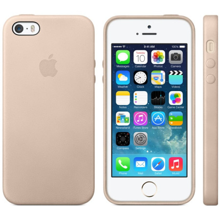 detailed look 700a9 2044c Official Apple iPhone 5S / 5 Leather Case - Beige