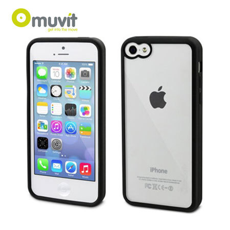 clear iphone 5c case muvit bimat back for iphone 5c black clear 3765