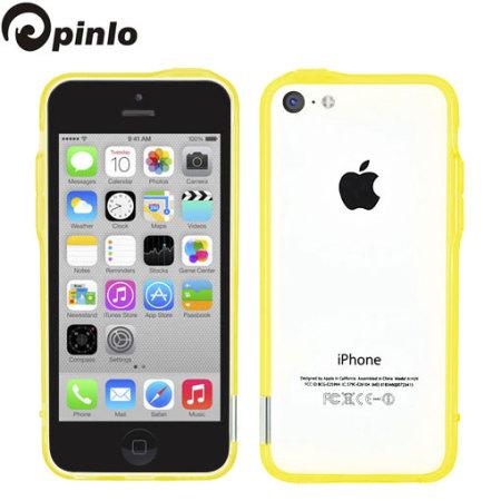 Pinlo Bladedge Bumper Case for iPhone 5C - Yellow Transparent