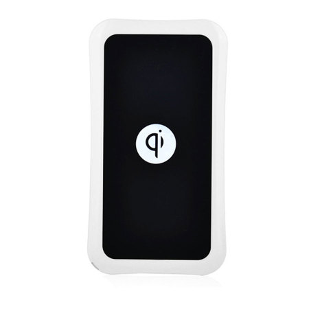Qi Wireless Charger With EU Plug - White/Black