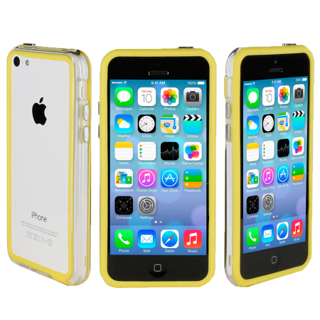 yellow iphone 5c genx bumper for apple iphone 5c yellow 13332