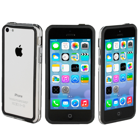 black iphone 5c genx bumper for apple iphone 5c black 10275