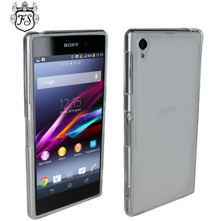 sony xperia z1 white. flexishield for sony xperia z1 - white