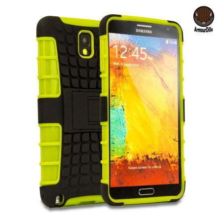 ArmourDillo Hybrid Protective Case for Samsung Galaxy Note 3 - Green