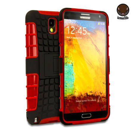 ArmourDillo Hybrid Protective Case for Samsung Galaxy Note 3 - Red