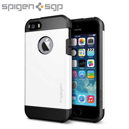 spigen tough armor iphone 5s spigen sgp tough armor for iphone 5s 5 smooth white 18029