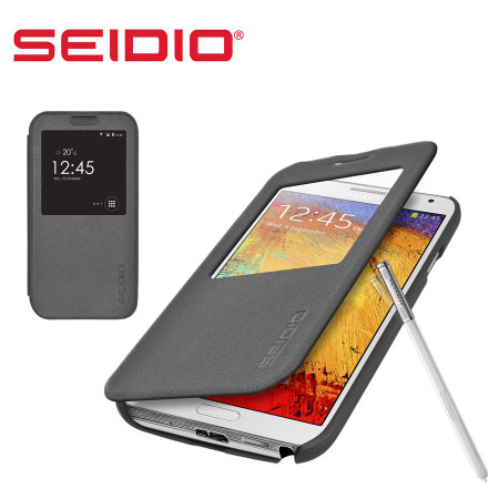 Seidio LEDGER View Case for Samsung Galaxy Note 3 - Dark Grey
