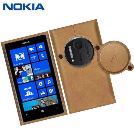 on sale 8e30c 65468 Nokia Leather Case for Nokia Lumia 1020 - Brown