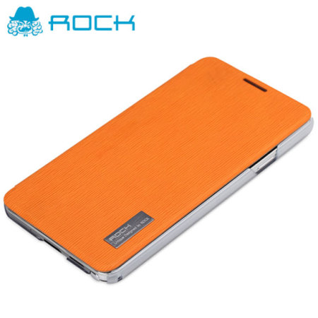 ROCK Elegant Side Flip Case for Samsung Galaxy Note 3 - Orange