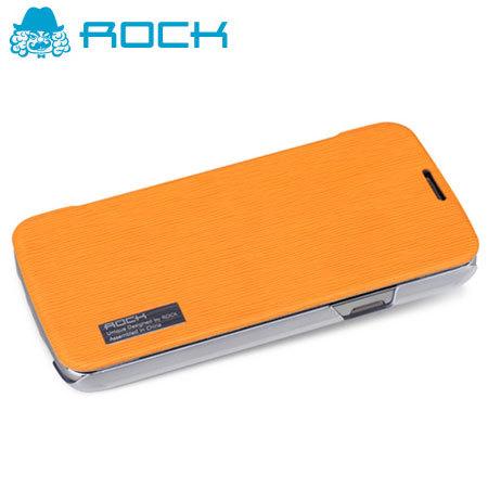 ROCK Elegant Side Flip Case for Samsung Galaxy S4 Active - Orange