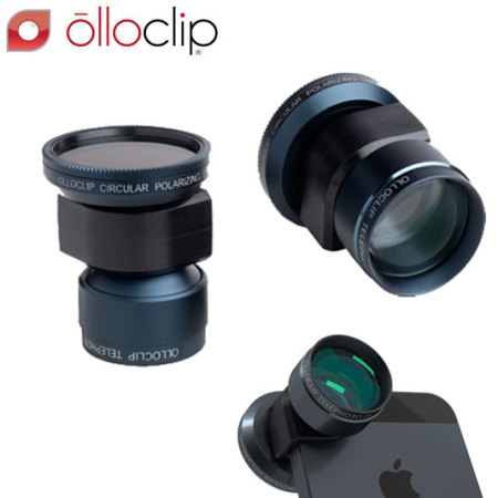 olloclip Telephoto and Polarising Lens Kit for iPhone 5S / 5 - Black