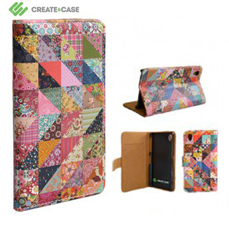 Create And Case Sony Xperia Z1 Leather Book Case - Grandma Quilt