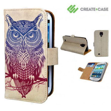 Create And Case Samsung Galaxy S4 Mini Flip Case - Warrior Owl