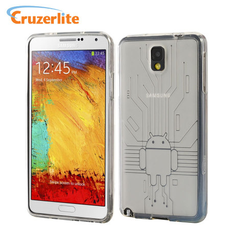 Cruzerlite Bugdroid Circuit Case for Samsung Galaxy Note 3 - Clear