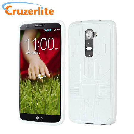 Cruzerlite Bugdroid Circuit Case for LG G2 - White