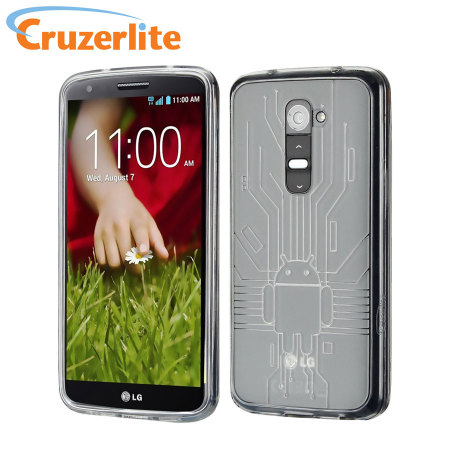 Cruzerlite Bugdroid Circuit Case for LG G2 - Clear