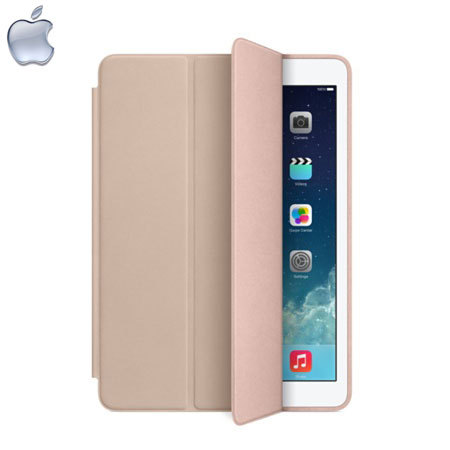 apple leather smart case for ipad air beige