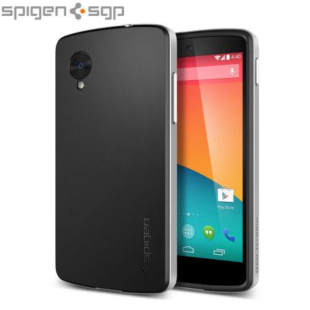 [MOBILEFUN.FR] Test Coque Nexus 5 Spigen SGP Neo Hybrid – Argent Satiné  41768