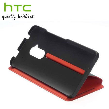 Genuine HTC HC V800 Double Dip Flip Case for One Max - Black / Red