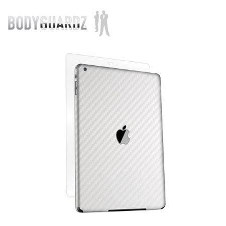 BodyGuardz Carbon Fibre Armor Skin for iPad Air - White