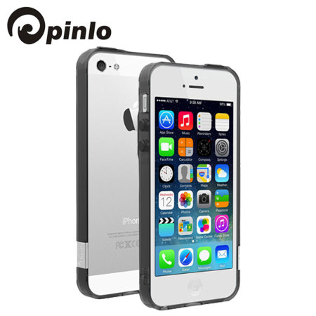 Pinlo BLADEdge Bumper Case for iPhone 5S / 5 - Transparent Black
