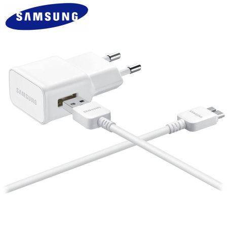 Official Samsung EU Travel Adaptor with Micro USB 3.0 Cable - White