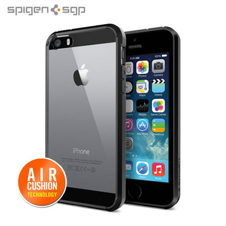 coque iphone 5s 5 spigen sgp ultra hybrid noire avis. Black Bedroom Furniture Sets. Home Design Ideas