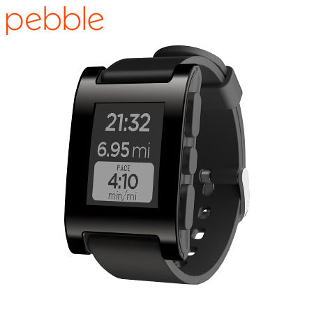 Pebble Smartwatch für iOS und Android in Jet Black