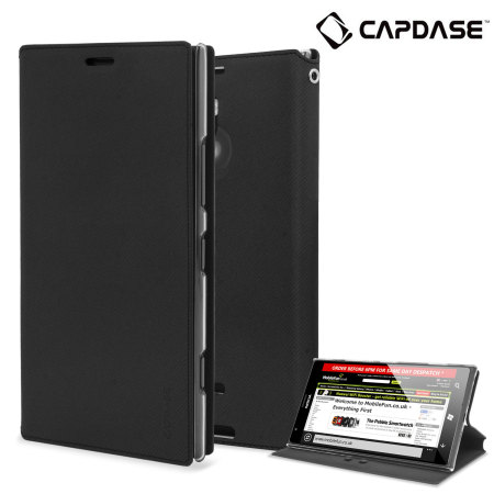 Capdase Sider Baco Folder Case for Nokia Lumia 1520 - Black / Clear
