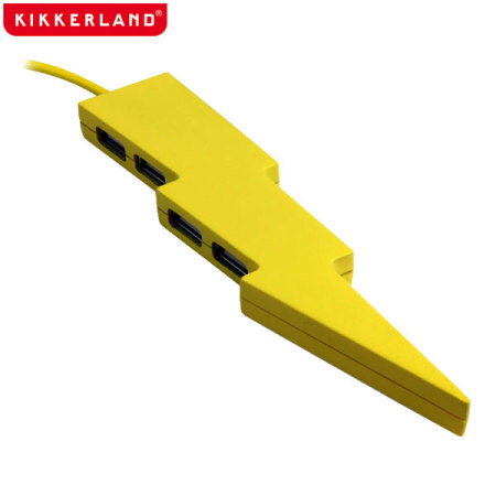 Kikkerland Lightning Bolt 4 Port USB Hub