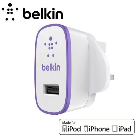 Belkin Single AC Wall Charger 2.1A - Purple