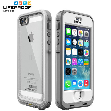 iphone 5s cases lifeproof lifeproof nuud for iphone 5s white grey 4305