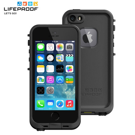 newest 76849 5a906 LifeProof Fre Case for iPhone SE / 5S / 5 - Black