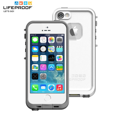 more photos d8025 f3287 LifeProof Fre Case for iPhone 5S - White / Grey