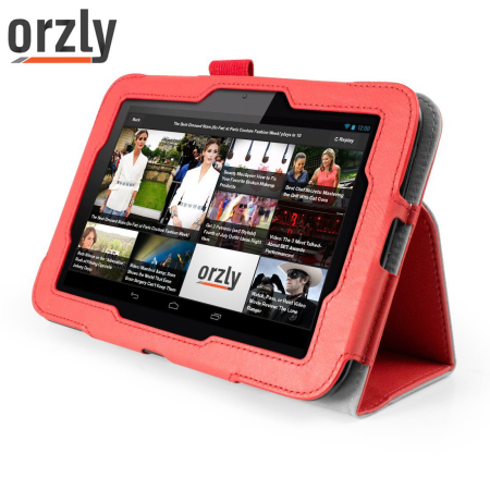 Orzly Stand and Type Case for Hudl Tablet - Red