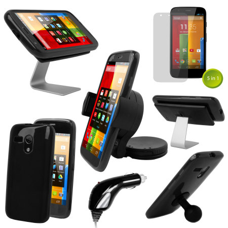 The Ultimate Moto G Accessory Pack - Black