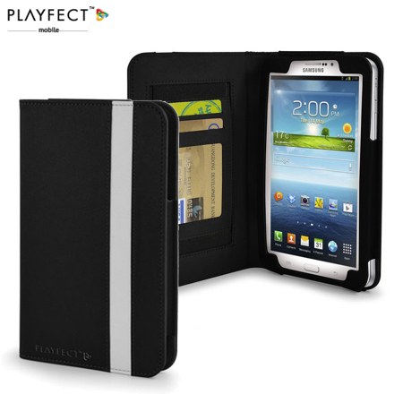 Playfect Candy Folio Case for Samsung Galaxy Tab 3 7.0 - Black