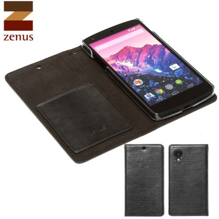 Zenus Lettering Diary Case for Google Nexus 5 - Dark Grey