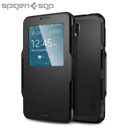 100% authentic 88e81 efae4 Spigen Slim Armor View Case for Samsung Galaxy Note 3 - Smooth Black