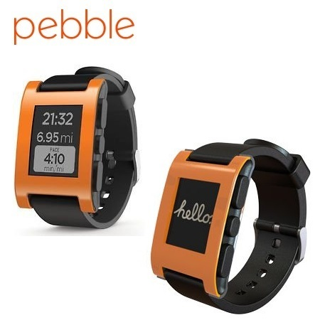 Pebble Smartwatch for iOS and Android Devices - Orange