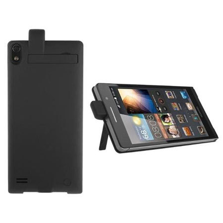 Power Jacket Case 3800mAh for Huawei Ascend P6 - Black
