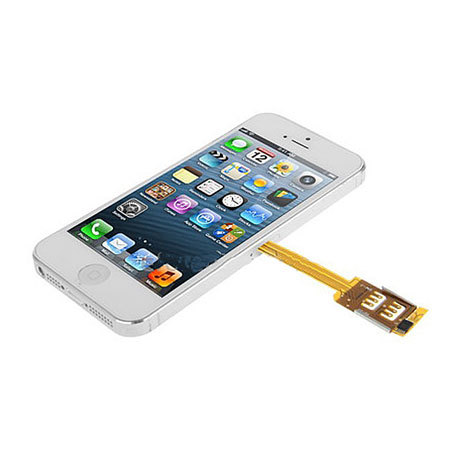 iphone 5s sim dual sim card adapter with for iphone 5s 5 black 11248
