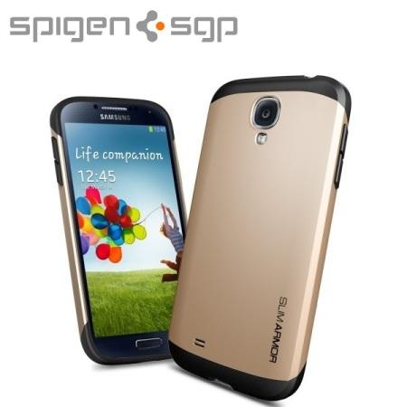 Spigen SGP Slim Armour Case for Samsung Galaxy S4 - Champagne Gold