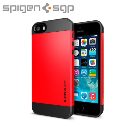 coque iphone 5s 5 spigen sgp slim armor s rouge avis. Black Bedroom Furniture Sets. Home Design Ideas