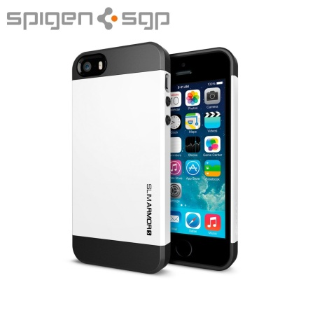 Spigen Slim Armor S Case for iPhone 5S / 5 - White