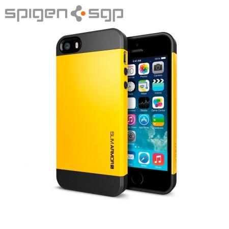 sale retailer a9730 e8f5c Spigen Slim Armor S Case for iPhone 5S / 5 - Yellow