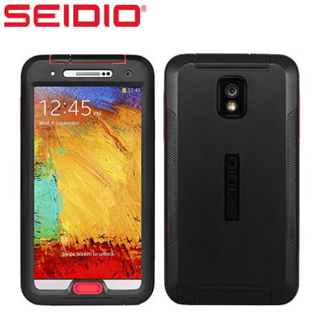 Seidio Galaxy Note 3 OBEX Waterproof Case - Black/Red