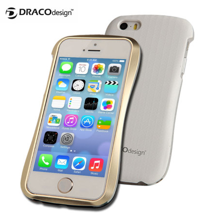 Draco Allure A Aluminium Bumper Case for iPhone 5S / 5 - Gold / White