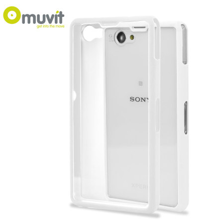 Muvit Bimat Back Case for Sony Xperia Z1 Compact - Clear / White