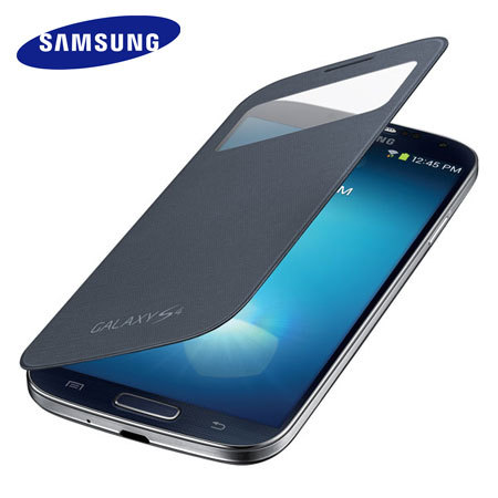 Official Samsung S-View Flip Cover & Qi Charging for Galaxy S4 - Black